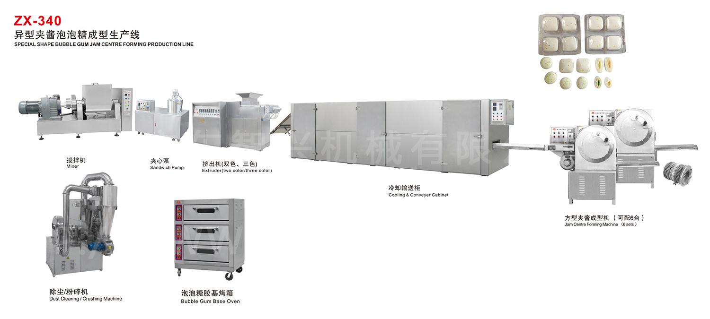 ZX-340 异型夹酱泡泡糖成型生产线